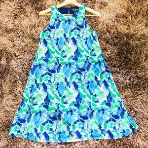 Lauren Ralph Lauren Printed blue green tunic dress
